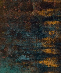 Dried old wall. Stained wall. Old grunge background.