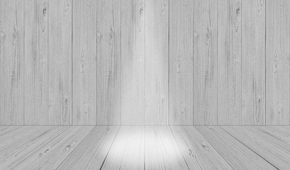 soft gray studio room background, grey floor backdrop with spotlight wood,Perspective light color Wood wall backdrop texture background