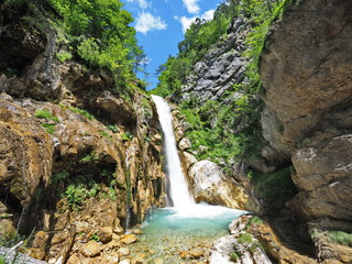 Wasserfall in den Karawanken - Waterfall in the Karawanken