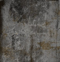 Old painted wall. Concrete.