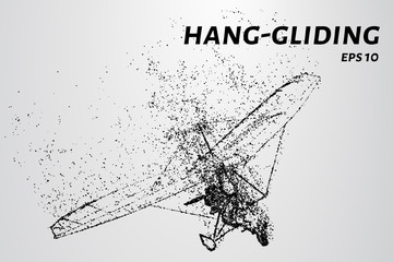 Hang-gliding of the particles.