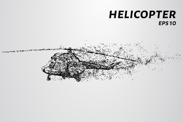The helicopter of the particles.