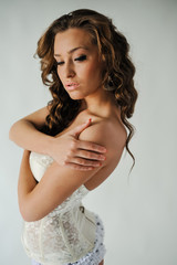 Beautiful young woman in underwear