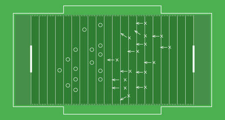 American footbal field vector sport illustration