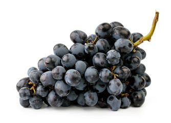 Bunch of blue grapes on a white, close-up. Isolated Fototapete