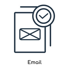Email icon vector isolated on white background, Email sign , thin symbols or lined elements in outline style