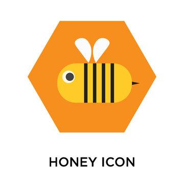 Honey icon vector isolated on white background, Honey sign