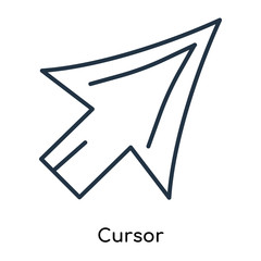 Cursor icon vector isolated on white background, Cursor sign , thin symbols or lined elements in outline style