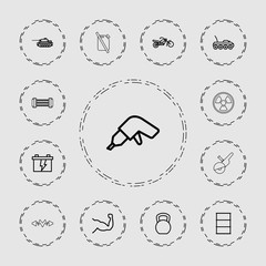 Collection of 13 power outline icons