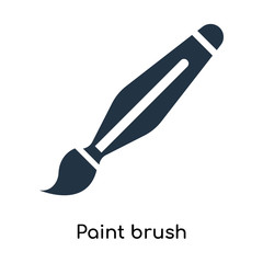 Paint brush icon vector isolated on white background, Paint brush sign