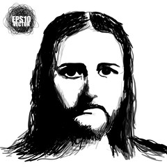 The Image Of Jesus Christ Vector Design