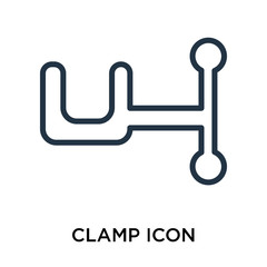 clamp icon isolated on white background. Simple and editable clamp icons. Modern icon vector illustration.