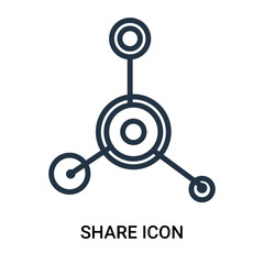 share icon isolated on white background. Modern and editable share icon. Simple icons vector illustration.