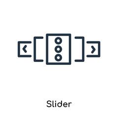 Slider icon vector isolated on white background, Slider sign , line symbols or linear logo design in outline style