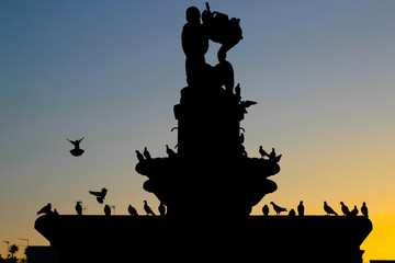 Fontana silhouette