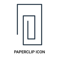 paperclip icon isolated on white background. Modern and editable paperclip icon. Simple icons vector illustration.
