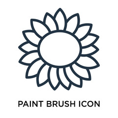 Paint brush icon vector isolated on white background, Paint brush sign , thin symbol or stroke element design in outline style