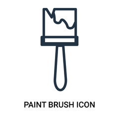 paint brush icon isolated on white background. Modern and editable paint brush icon. Simple icons vector illustration.