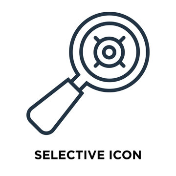 selective icon isolated on white background. Modern and editable selective icon. Simple icons vector illustration.