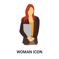 woman icon isolated on white background. Simple and editable woman icons. Modern icon vector illustration.