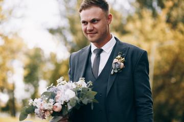 Wedding photo of the groom