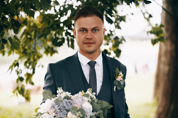 Wedding photo of the groom