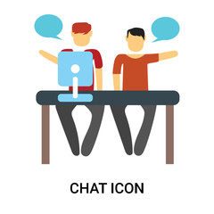 chat icon isolated on white background. Simple and editable chat icons. Modern icon vector illustration.