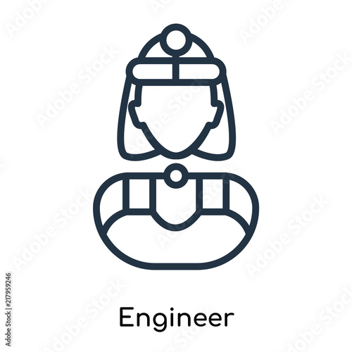 Engineer Icon Vector Isolated On White Background Engineer Sign