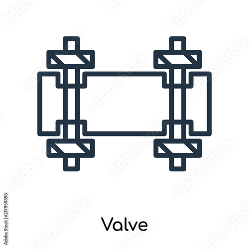 Valve Icon Vector Isolated On White Background Valve Sign Thin