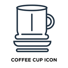 coffee cup icon isolated on white background. Modern and editable coffee cup icon. Simple icons vector illustration.