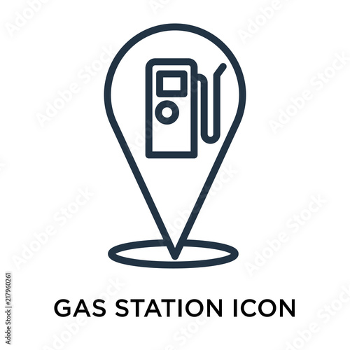 Gas Station Icon Vector Isolated On White Background Gas Station