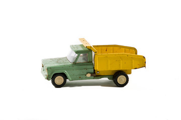 Vintage Rusty Retro Steel Toy Dump Truck