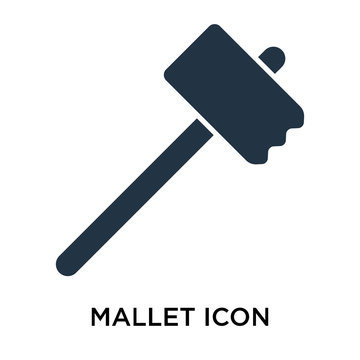 mallet icons isolated on white background. Modern and editable mallet icon. Simple icon vector illustration.