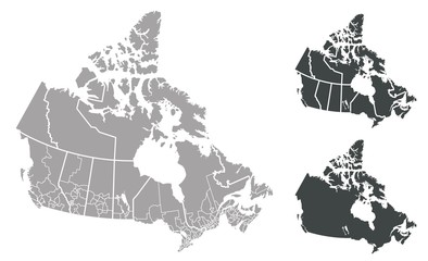 Detailed Vector Map of Canada