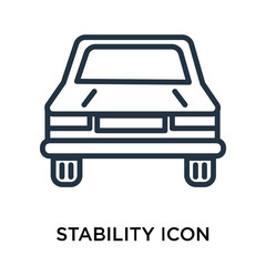 stability icon isolated on white background. Simple and editable stability icons. Modern icon vector illustration.