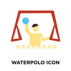 Waterpolo icon vector isolated on white background, Waterpolo sign