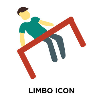 limbo icon isolated on white background. Simple and editable limbo icons. Modern icon vector illustration.