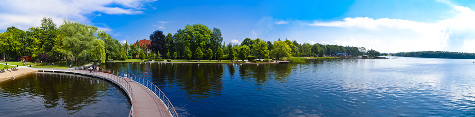 Panorama of the Lake in Szczecinek - Landscape in Poland