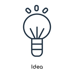 idea icon isolated on white background. Modern and editable idea icon. Simple icons vector illustration.