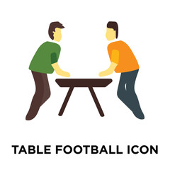 table football icon isolated on white background. Simple and editable table football icons. Modern icon vector illustration.