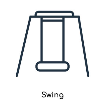 swing icon isolated on white background. Modern and editable swing icon. Simple icons vector illustration.
