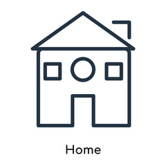 home icons isolated on white background. Modern and editable home icon. Simple icon vector illustration.