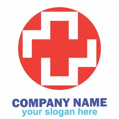 logo cross health medical medicine hospital doctor