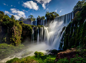 Photo sur Toile Brésil Iguazu Waterfalls Jungle Argentina Brazil