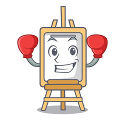 Boxing easel character cartoon style