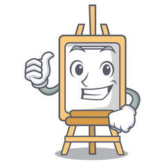 Thumbs up easel character cartoon style