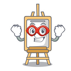 Super hero easel character cartoon style