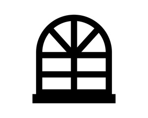 black window silhouette furniture furnishing exterior interior home house image vector icon logo