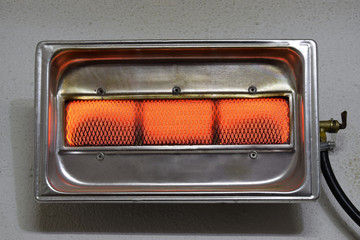 gas heater of house inclusions close-up