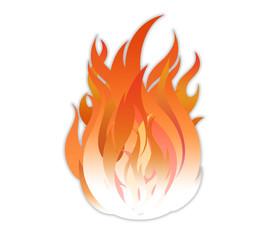 Огонь яркий, пламя обжигает